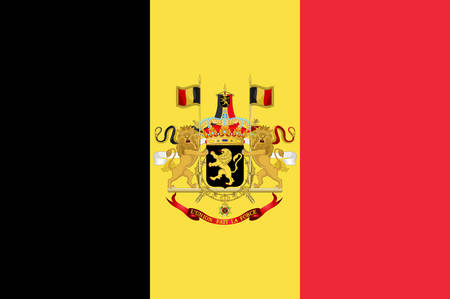Flag of Belgium officially the Kingdom of Belgium, is a country in Western Europe. Vector illustration Vektorové ilustrace
