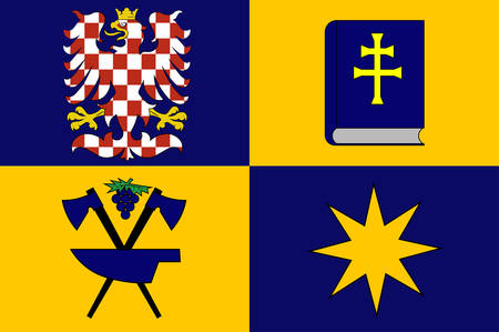 Flag of Zlin Region is an administrative unit of the Czech Republic. Vector illustration