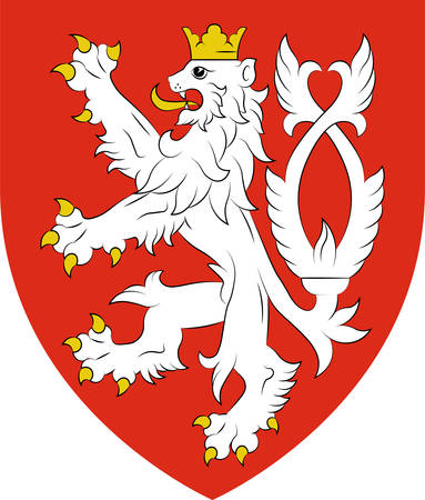 Coat of arms of Bohemia is the westernmost and largest historical region of the Czech lands in the present-day Czech Republic. Vector illustration