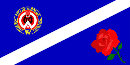 Flag of Windsor is a city in Southwestern Ontario, Canada. Vector illustration Illustration