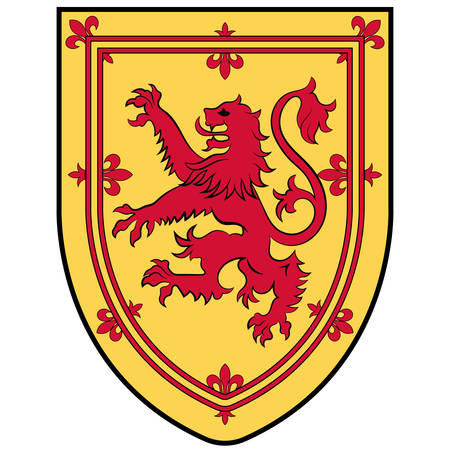 Coat of arms of Nova Scotia is one of Canada three Maritime Provinces, and one of the four provinces that form Atlantic Canada. Vector illustration