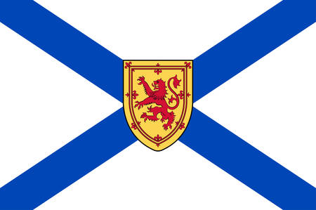 Flag of Nova Scotia is one of Canada three Maritime Provinces, and one of the four provinces that form Atlantic Canada. Vector illustration Illustration