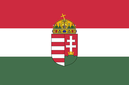Flag of Hungary is a country in Central Europe. Vector illustration