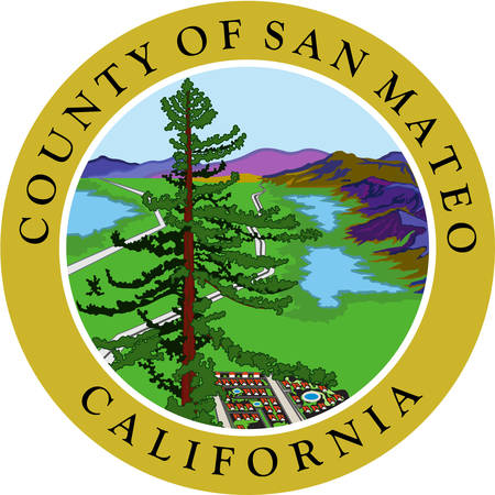 Coat of arms of San Mateo County is a county located in the U.S. state of California. Vector illustration Illustration