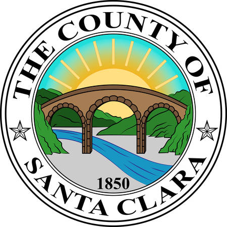 Coat of arms of Santa Clara County in California in the United States. Vector illustration