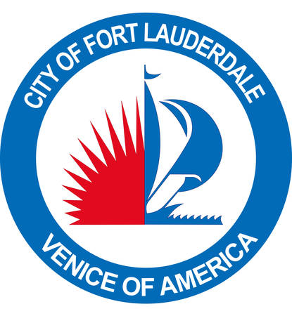 Coat of arms of Fort Lauderdale is a city in the U.S. state of Florida of United States. Vector illustration