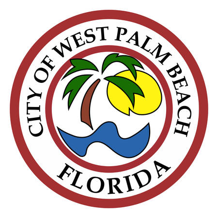 Coat of arms of West Palm Beach is a city in and the county seat of Palm Beach County, Florida, United States. Vector illustration Illustration