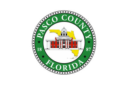 Flag of Pasco County is a county located in the U.S. state of Florida. Vector illustration Illusztráció