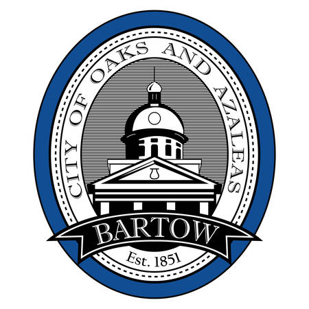 Coat of arms of Bartow is the county seat of Polk County, Florida, United States. Vector illustration