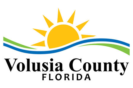 Coat of arms of Volusia County is located in the east-central part of the U.S. state of Florida. Vector illustration Illustration