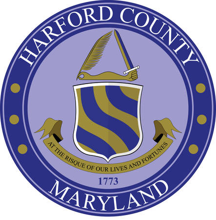 Coat of arms of Harford County is a county in the U.S. state of Maryland. Vector illustration Illustration