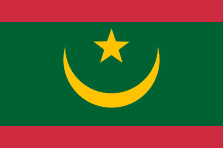 Flag of Islamic Republic of Mauritania, is a country in Northwest Africa. Vector illustration 일러스트