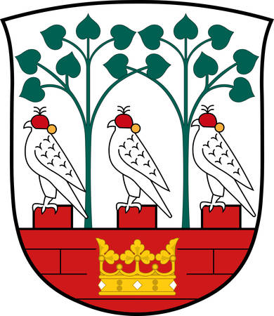 Coat of arms of Frederiksberg is a municipality in Region Hovedstaden of Denmark. Vector illustration