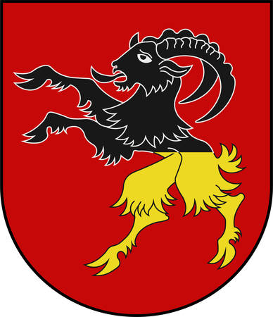 Coat of arms of Stans is the capital of the canton of Nidwalden in Switzerland. Vector illustration Banque d'images - 127599900