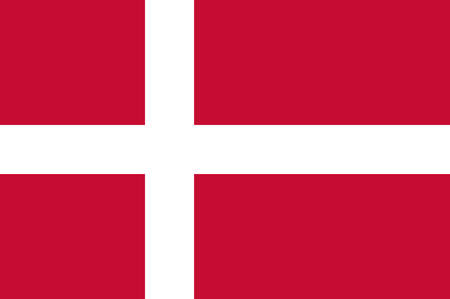 Flag of Denmark is a Scandinavian country in Europe. Vector illustration Illustration