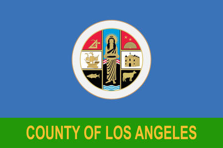 Flag of Los Angeles County in California state, United States. Vector illustration