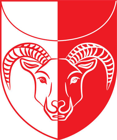 Coat of arms of Kujalleq is a new municipality in the southern tip of Greenland of Denmark Kingdom. Vector illustration
