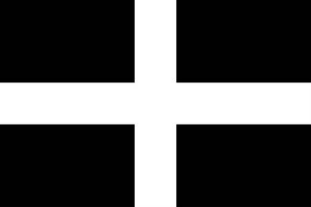 Flag of Cornwall is a county in South West England in the United Kingdom. Vector illustration Zdjęcie Seryjne - 127600034