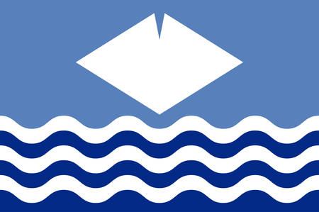 Flag of Isle of Wight is a county and the largest and second-most populous island in England. Vector illustration