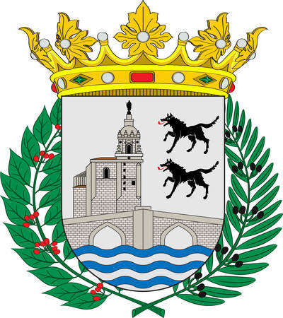 Coat of arms of Bilbao is a city in northern Spain, the largest city in the province of Biscay and in the Basque Country. Vector illustration
