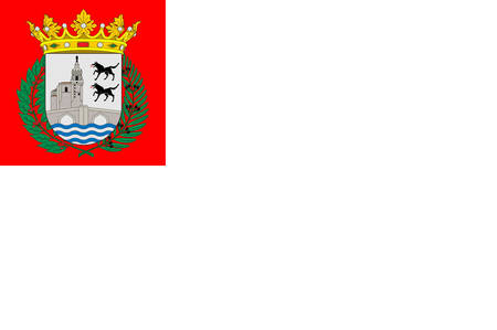 Flag of Bilbao is a city in northern Spain, the largest city in the province of Biscay and in the Basque Country. Vector illustration