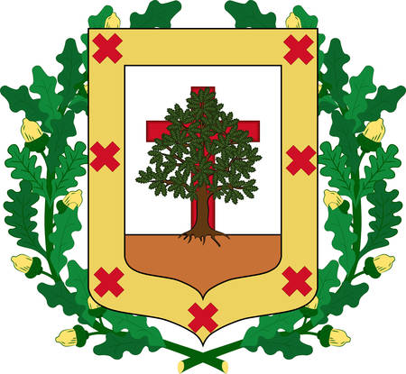 Coat of arms of Biscay is a province of Spain located just south of the Bay of Biscay. Vector illustration