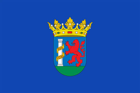 Flag of province of Badajoz is a province of western Spain located in the autonomous community of Extremadura. Vector illustration