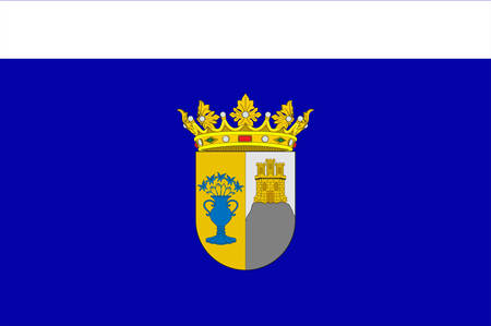 Flag of Zafra is a town situated in the Province of Badajoz in Extremadura, Spain. Vector illustration
