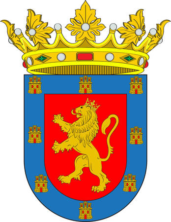 Coat of arms of Coria is a Spanish municipality in the province of Caceres, Extremadura, Spain. Vector illustration