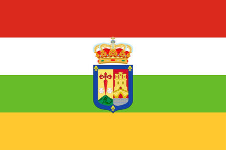 Flag of La Rioja is an autonomous community and a province in Spain. Vector illustration