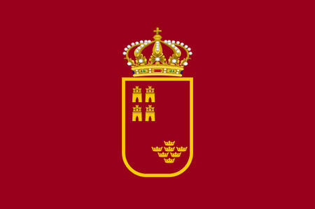 Flag of Region of Murcia is an autonomous community of Spain. Vector illustration
