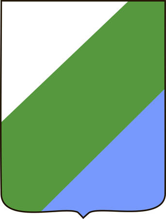 Coat of arms of Abruzzo is a region of Italy. Vector illustration