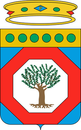 Coat of arms of Apulia is a region of Italy. Vector illustration