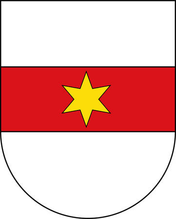 Coat of arms of Bolzano is the capital city of the province of South Tyrol in northern Italy. Vector illustration