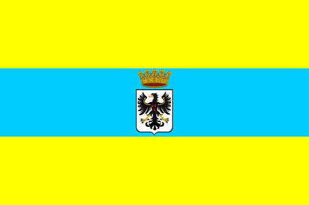Flag of Trento is a city located in the Adige River valley in Trentino-Alto AdigeSudtirol in Italy. Vector illustration