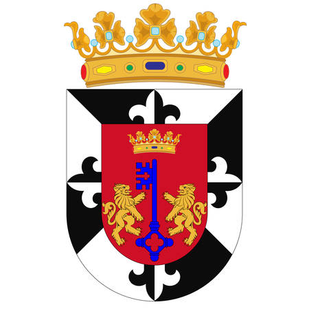 Coat of arms of Santo Domingo is the capital and largest city in the Dominican Republic. Vector illustration