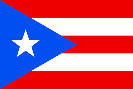 Flag of Puerto Rico is an unincorporated territory of the United States located in the northeast Caribbean Sea. Vector illustration