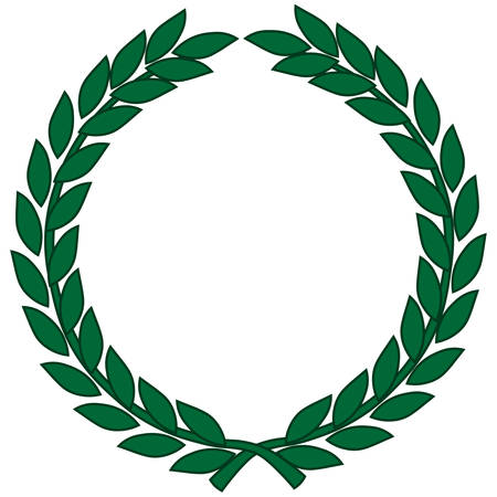 Laurel wreath - symbol of victory and achievement. Vector illustration