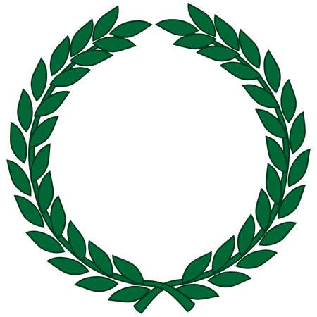 Laurel wreath - symbol of victory and achievement. Vector illustration