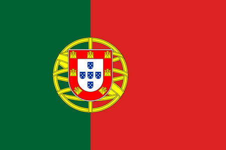 Coat of arms of Portugal is a country on the Iberian Peninsula, in Southwestern Europe. Vector illustration