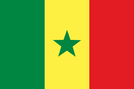 Flag of Senegal officially the Republic of Senegal is a country in West Africa. Vector illustration Banque d'images - 127601594
