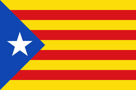 Flag of Estelada blue, Catalonia is an autonomous community of Spain. Vector illustration Illustration