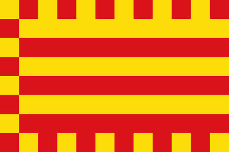 Flag of Alt Emporda is a comarca in Girona, Catalonia, Spain. Vector illustration Illustration