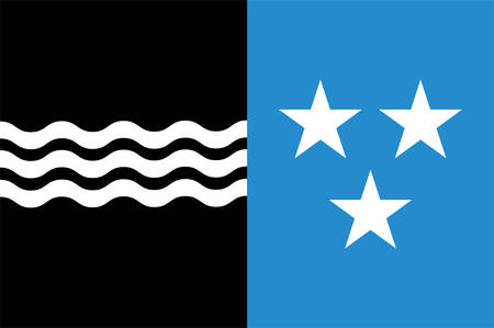 Flag of Republic and Canton of Aargau is one of the more northerly cantons of Switzerland. Vector illustration