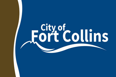 Flag of Fort Collins is the Home Rule Municipality that is the county seat and the most populous municipality of Larimer County, Colorado, United States. Vector illustration