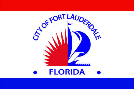 Flag of Fort Lauderdale is a city in the U.S. state of Florida of United States. Vector illustration