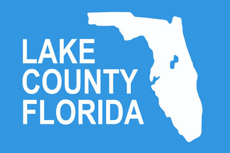 Flag of Lake County is a county located in the U.S. state of Florida. Vector illustration