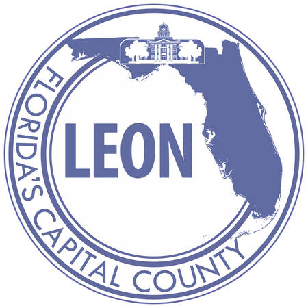 Coat of arms of Leon County is a county located in the Panhandle of the U.S. state of Florida. Vector illustration Banque d'images - 127601710