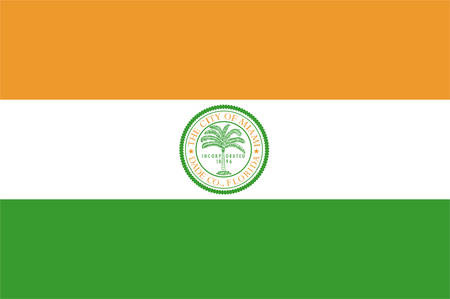 Flag of Miami is a city of Florida, United States. Vector illustration