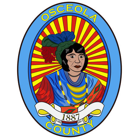 Flag of Osceola County is a county located in the U.S. state of Florida. Vector illustration